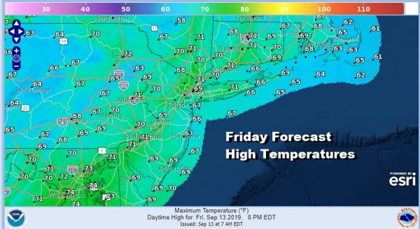 Friday Forecast High Temperatures