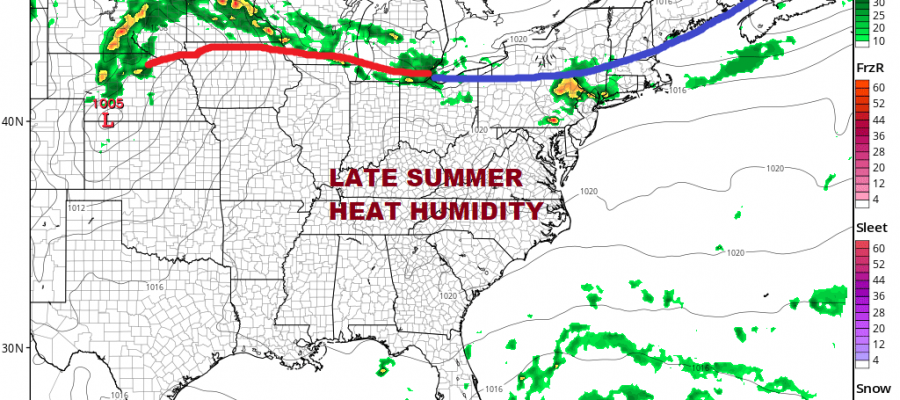 Heat Humidity Wednesday Into Thursday Warm Calm Pattern Quiet Tropics