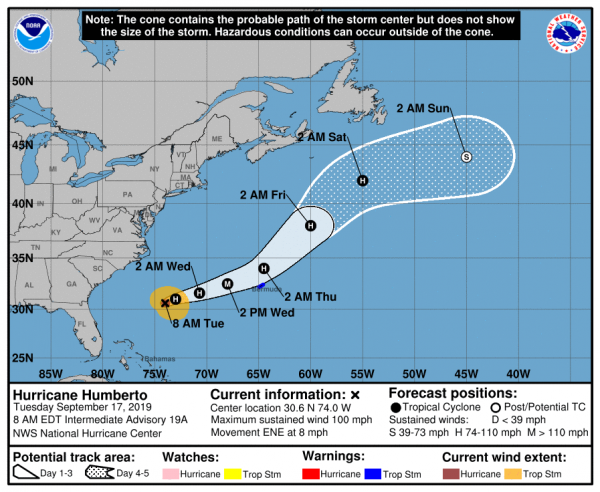 Tropical Storm Warning Bermuda Great Weather Next 6 Days Eastern US