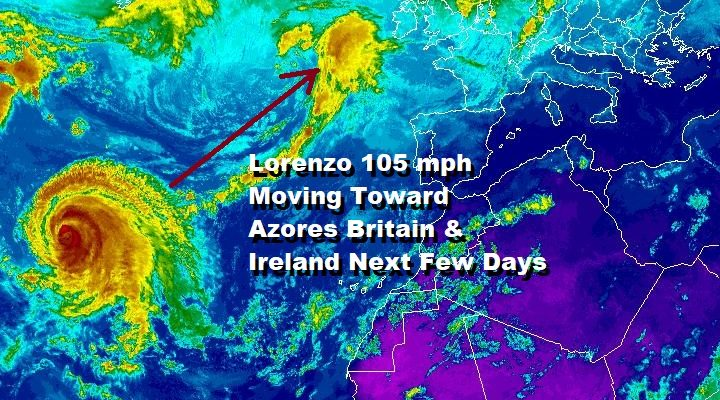 Lorenzo Azores Tuesday Ireland England Scotland Risks Uncertain