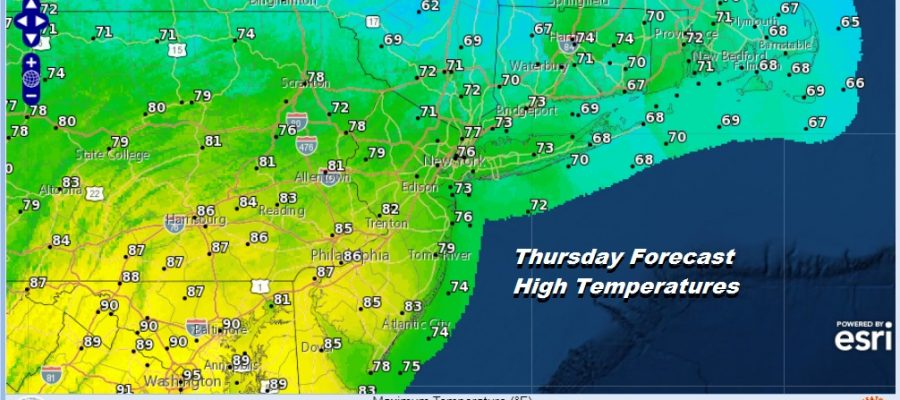 Thursday Forecast High Temperatures