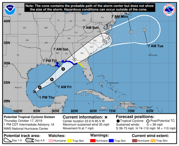 Tropical Storm Warning Central Gulf Coast New Tropical Storm To Form Later Today