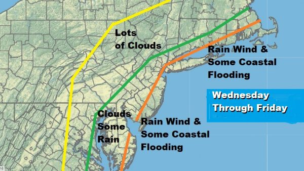Cold Front Coastal Low Onshore Flow Factors For Week Ahead Weather