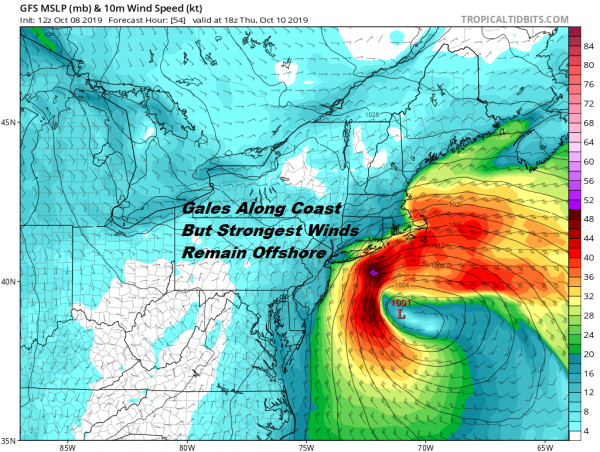 Coastal Storm Should Remain Far Enough East To Spare Us Major Issues