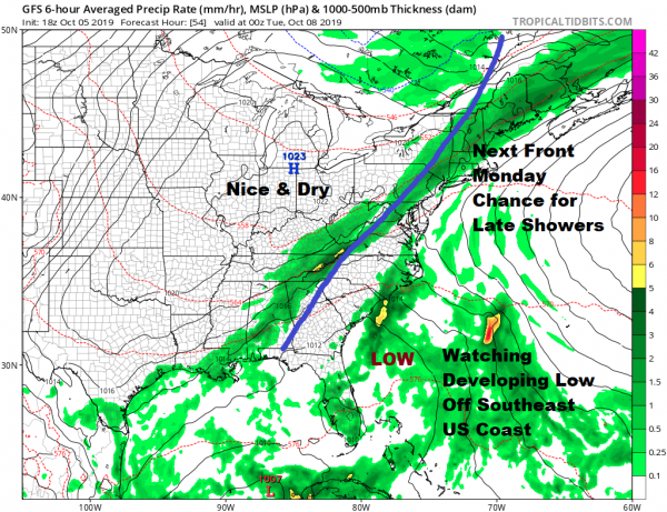 Clouds Next Cold Front Approaches Week Ahead Weather Questions Remain