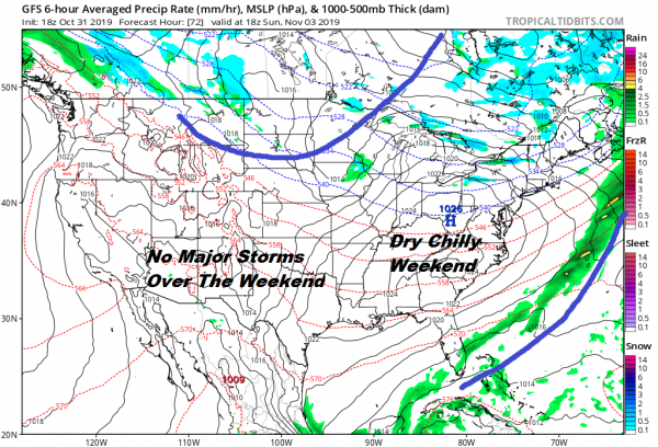 Colder Air Arrives Lasting Into Early Next Week