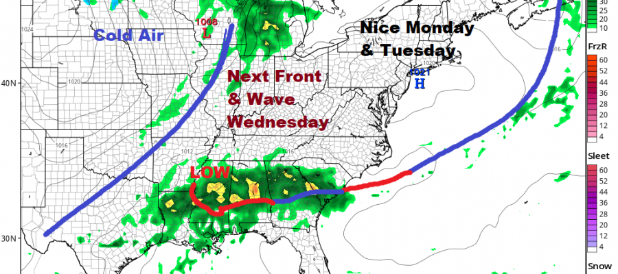 Subtropical Storm Melissa Moves East, Next Week Brings Midweek Cold Front