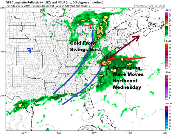 Next Storm System Will Bring Rain Wednesday