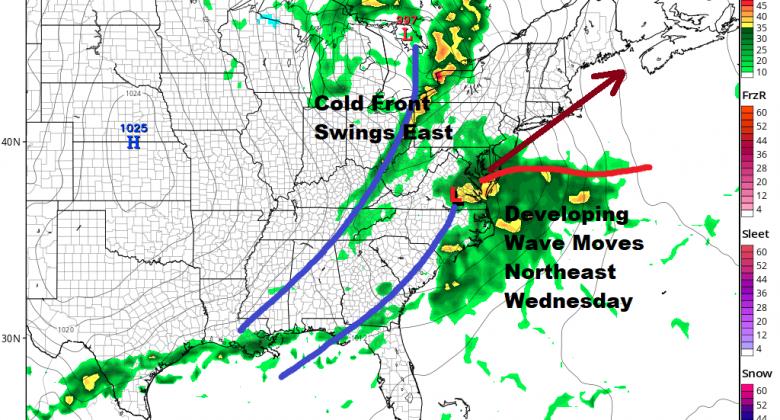 Next Storm System Will Bring Rain Wednesday