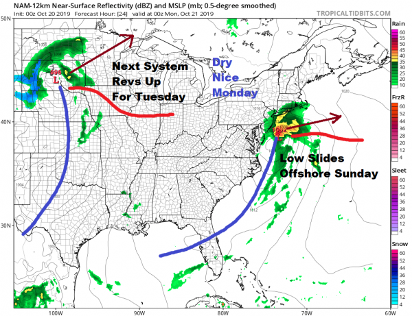 Post Tropical Storm Nestor Moving Northeast Rain Grazes Area Sunday