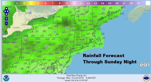 Tropical Depression 17 Enhancing Rain Moving Northeast
