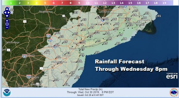 Rainfall Forecast Through Wednesday 8pm