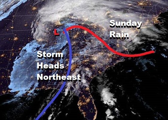Rain Heavy At Times Into Sunday Afternoon Another Rain Storm Late Next Week