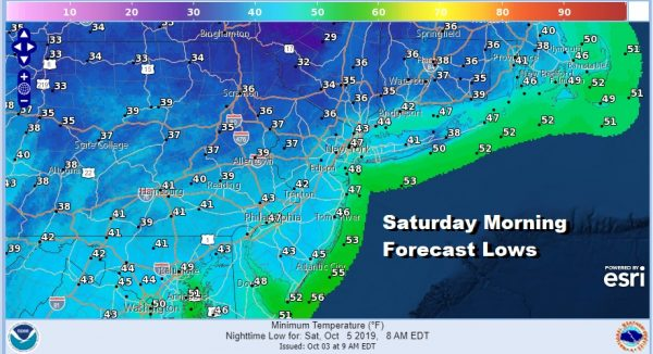 Saturday Morning Forecast Lows What A Difference From Yesterday's 90s Today 50s Big Chill Coming Friday Night