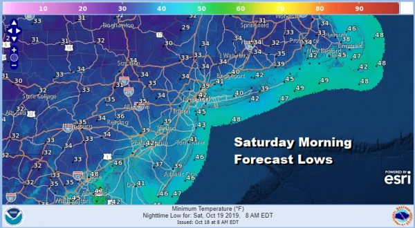 Sunshine Less Wind Today Frost Inland Tonght Nice Saturday Watching Gulf Low Sunday
