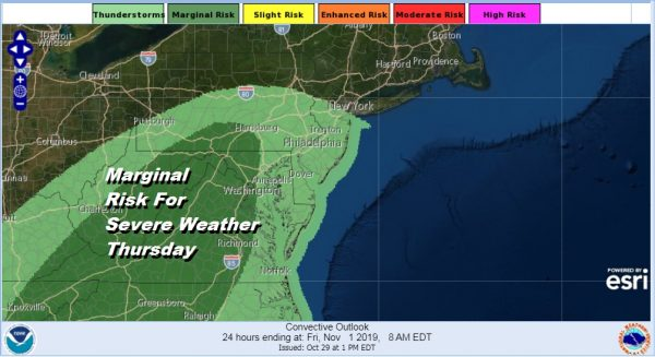Dismal Wednesday Showery Rains Into Early Friday, Strong Gusty Winds Developing Friday