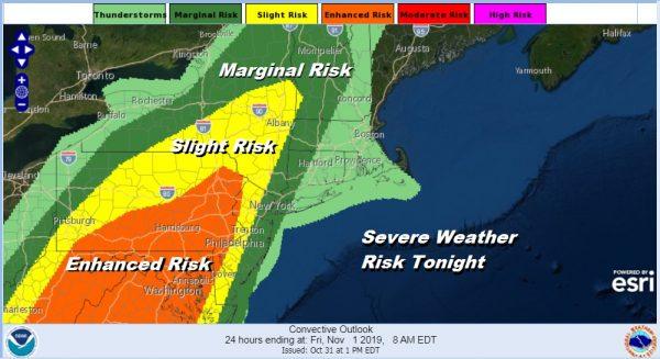 Wind Advisories Severe Weather Risks Weekend Outlook Dry Colder