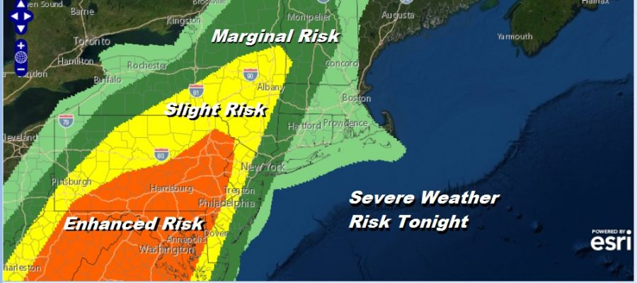 Severe Weather Risk Tonight