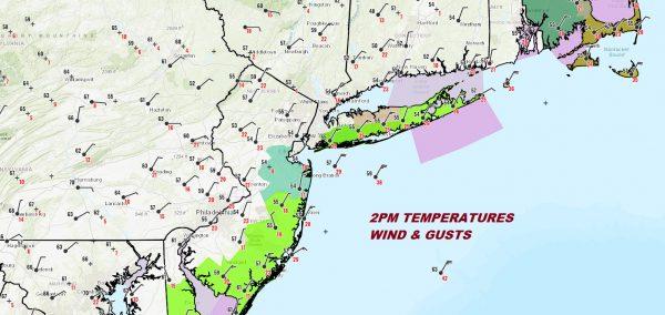 Coastal Flood Watch New Jersey Long Island Wind Advisory Eastern Half of Long Island