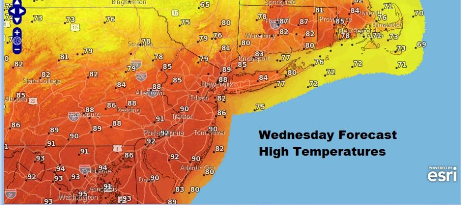 Record Heat Wednesday Before Autumn Cool Down Arrives