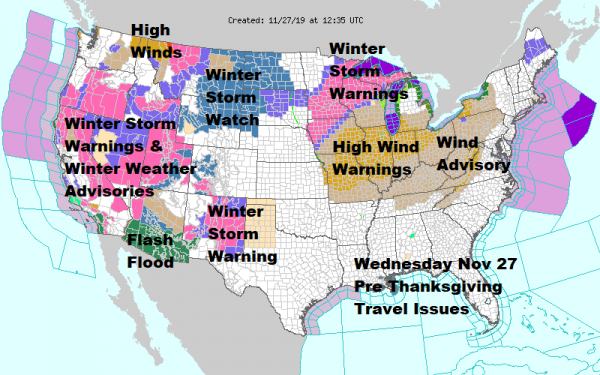 Thanksgiving Wind Arrives Weekend Storm System On Course