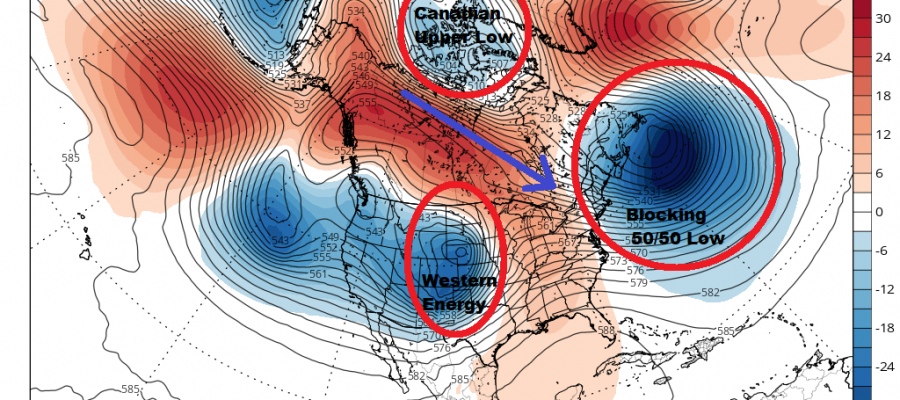 No Weather Forecast Changes Through Friday As Blocking Develops In A Stormy Pattern