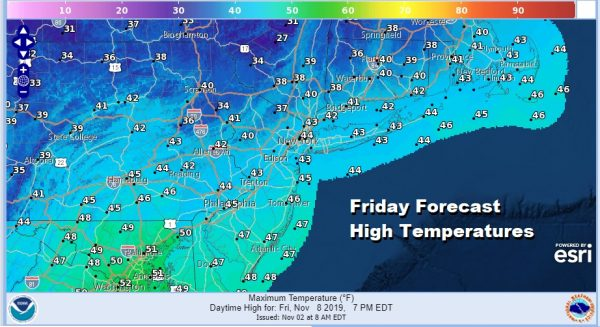 Chilly Dry Mainly Sunny Weekend Colder Pattern Develops Late Next Week