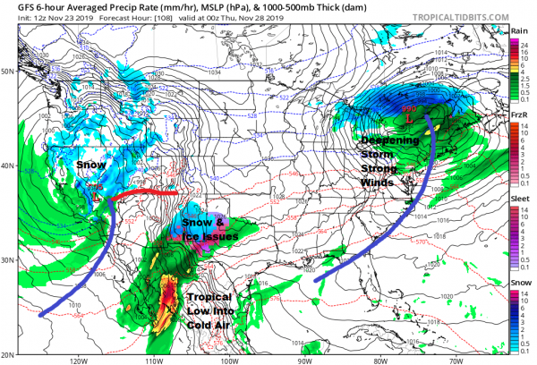 Rain Advancing Northward Through Sunday Morning Thanksgiving Week Weather Gets Busy