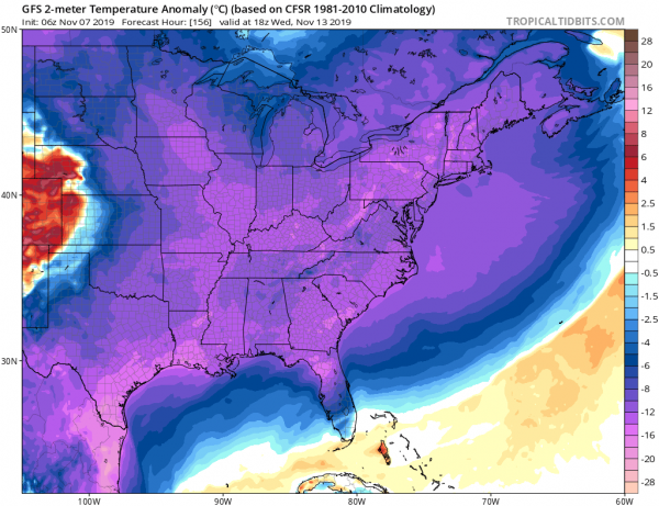 Polar Cold Front Arrives Tonight Cold Weather Friday Saturday