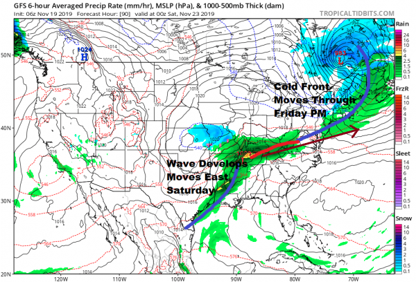 Weather Conditions Improve Next Few Days Cold Front Friday Wave On Saturday