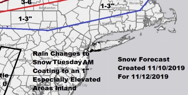 Arctic Boundary Passes Early Tuesday Quick Burst of Snow