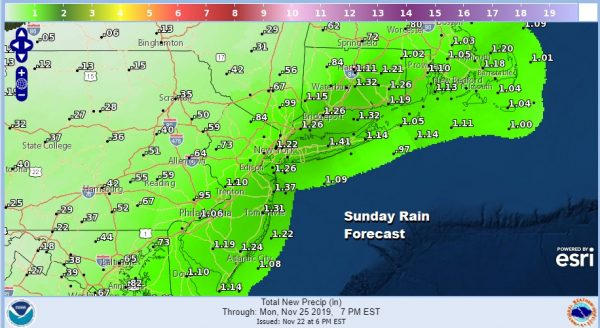 Rain Saturday Night Into Sunday Afternoon. Windy Wednesday Night & Thanksgiving Morning