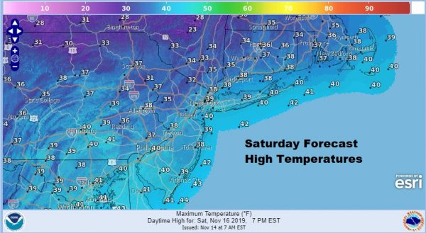 Warmer Air Friday Gives Way to Colder Weekend Coastal Storm Develops Off Carolinas
