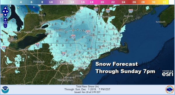 Windy Cold Overnight Friday. Western Storm Approaches Sunday Snow Ice Risks Grow