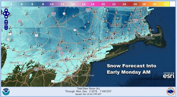 Winter Storm Watch Posted NW New Jersey, Northeast Pennsylvania, Hudson Valley & NW Connecticut