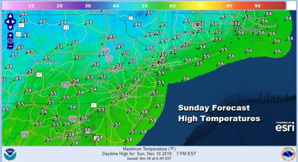 Saturday Sunshine High Clouds Warmer Sunday Monday Arctic Front Tuesday