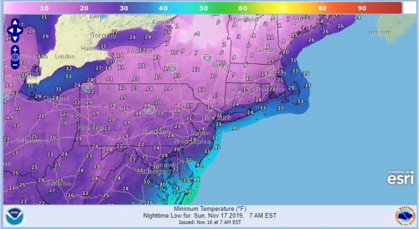 Cold Returns Gusty Winds Highs 30s Rain Chance Waits Until Monday