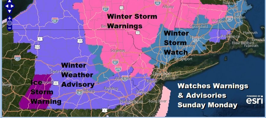 National Weather Service Snow Forecast Maps For Sunday ...