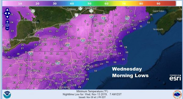 Warmer Sunday Monday Arctic Front Arrives Chance Snow Tuesday