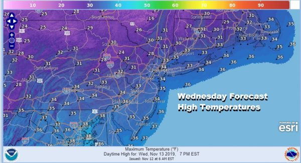 Record Cold Arriving Tonight Wednesday Only Slow Moderation Late Week