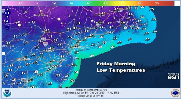Cold Night Temperatures Bounce Higher Over the Weekend