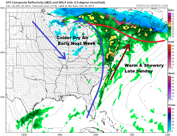 Merry Christmas Dry Calm Weather Continues Active Period Begins Sunday
