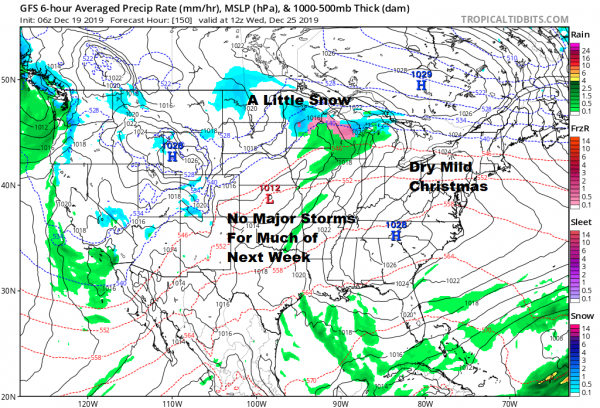 Very Cold Thursday Friday Leads to Warmer Weather Into Christmas No Major Storms