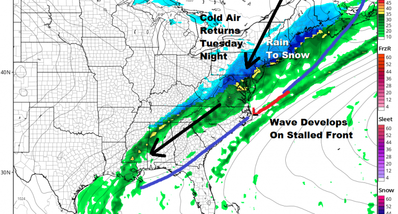 Rain Warmer Monday Watching Snow Cold Air Tuesday Night & Wednesday