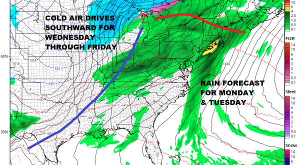 Showers Moving Through Clearing Tonight Nice Cold Weekend
