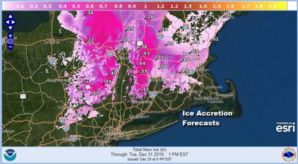 Ice Storm Winter Storm Warnings Advisories NE PA To New New England
