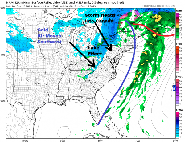 Cold Night Rain Arrives During Friday Into Saturday, Dry Colder Sunday