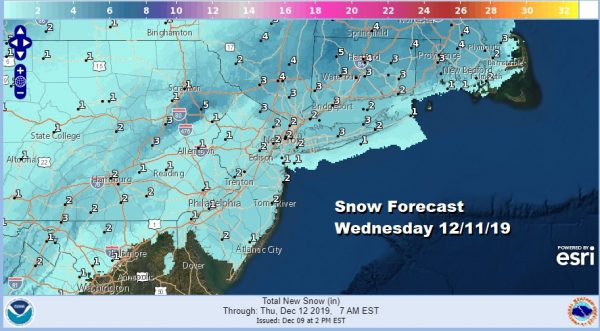 Rainy Night Ahead Before Some Improvement Tuesday Snow 1 to 3 Inches Wednesday