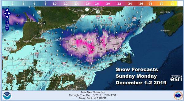Winter Storm Warnings Winter Weather Advisories Early December Storm Northeast