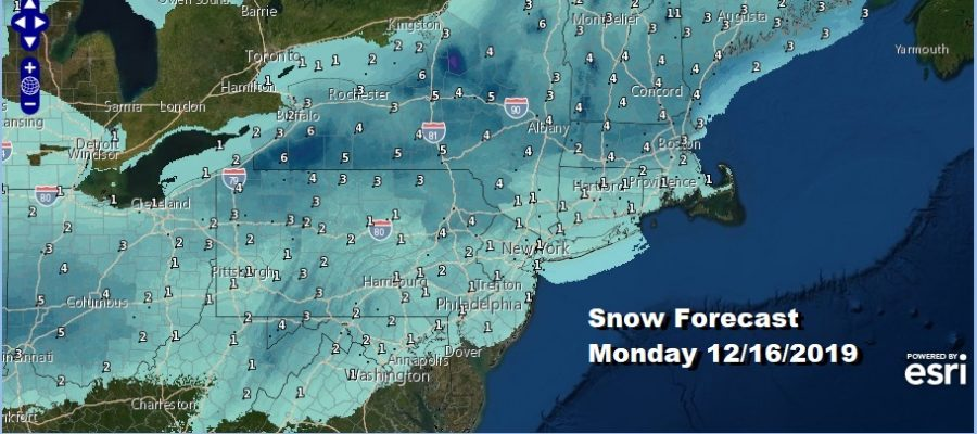 No Winter Weather Advisories Snow Coating to 2 Inches Then Ice Monday Night Rain Immediate Coast